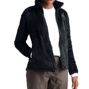 TheNorthface Black furry fleece jacket